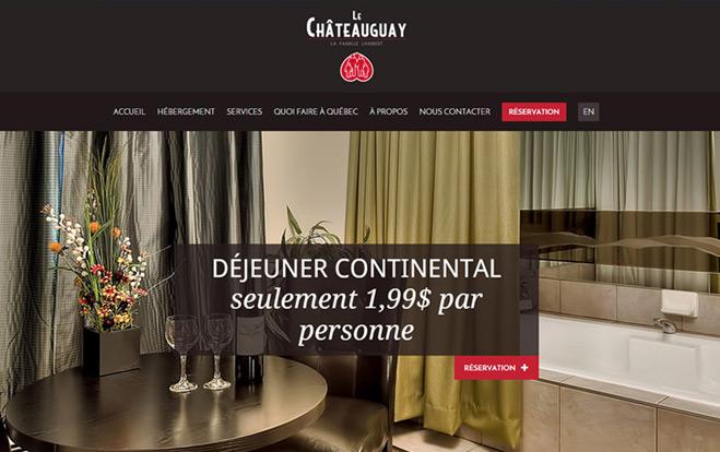 Conception de sites Web - Réalisation - Hôtel Motel le Châteauguay - Les entreprises Mobil-Tek - Conception de sites Web - Eraweb l'agence créative
