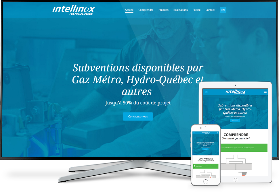 Réalisation - Intellinox Technologies - Conception de sites Web - Eraweb l'agence créative
