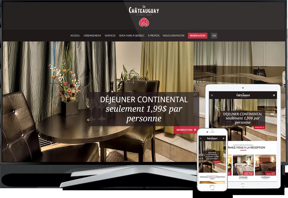 Réalisation - Hôtel-motel Le Châteauguay - Conception de sites Web - Eraweb l'agence créative