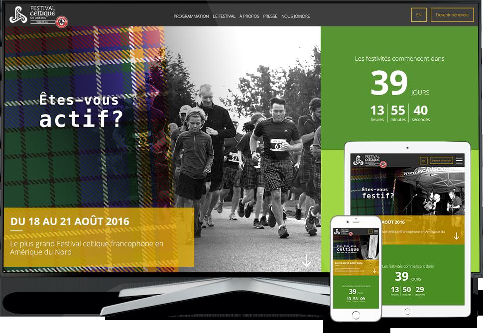 Réalisation - Festival celtique de Québec - Conception de sites Web - Eraweb l'agence créative