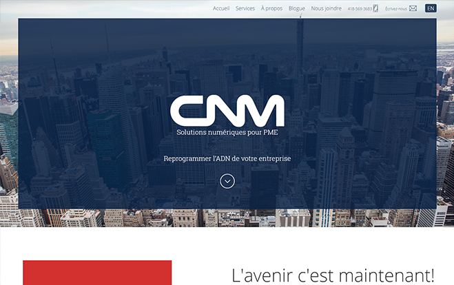 Conception de sites Web - Réalisation - CNM solutions numériques pour PME - Conception de sites Web - Eraweb l'agence créative
