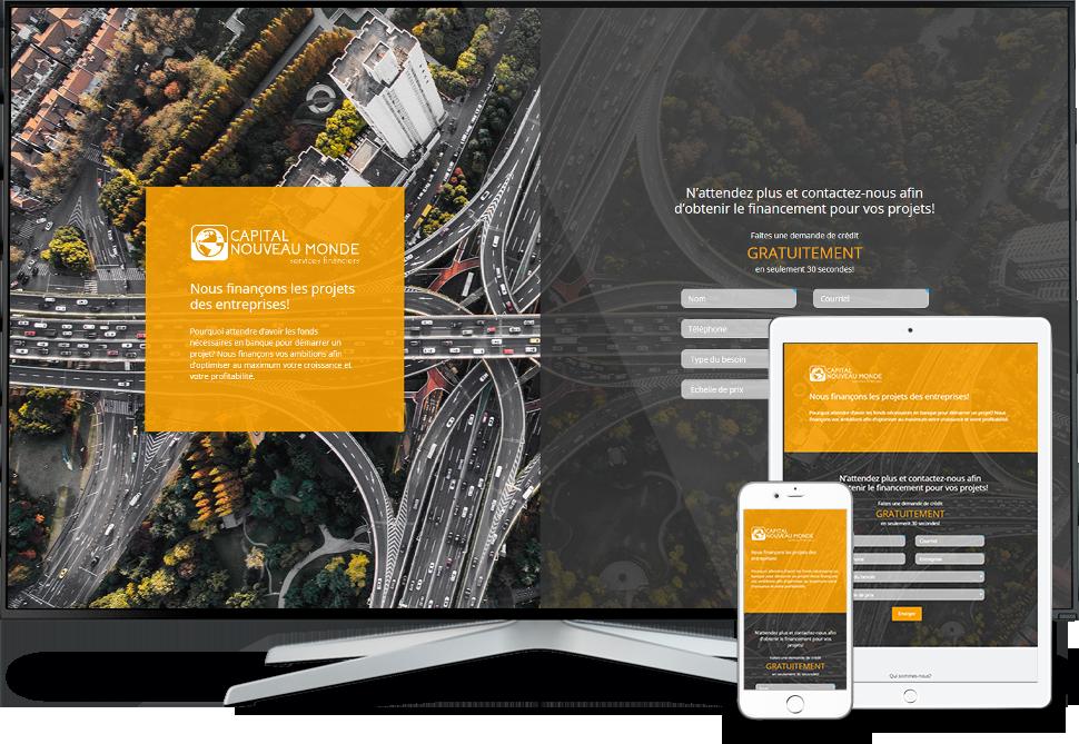 Réalisation - Capital Nouveau Monde services financiers - Conception de sites Web - Eraweb l'agence créative